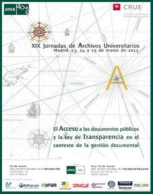 Cartel de las XIX Jornadas de Archivos Universitarios